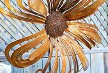 flor artesanal de metal