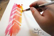 CRAFTS - Color Pencils/Crayons / techniques & applications