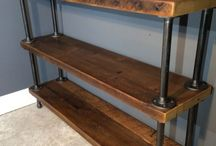 barn board shelves