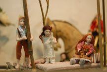 Lapsia -Kids / 1:12 porcelain doll by Taru Astikainen