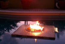 Aqua Fire Pit / We create custom built fire pits to create ambiance in any setting around the pool. Visit www.aquafirepit.com for more examples or to place an order.