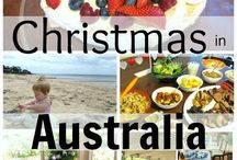 Christmas in Australia / Celebrating Christmas holiday season in the hot hot sun. This is how we party down under... BBQ, beach, pavlova, Santa on a surfboard...