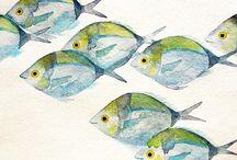 Watercolor Fishs