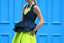 Great, uncommon combos / Peplum with a full skirt...