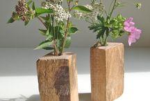 Wood vase