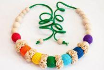 Colliers allaitement et portage en crochet / Colliers allaitement et portage en crochet pour les mamans.