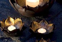 Licht / Licht van kaarsen; warmte.......