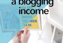 A blogging income