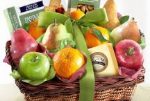 fruit, gourmet and snack  baskets