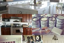 Painting kitchen units