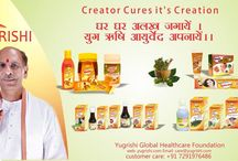 Yugrishi Global Healthcare Foundation : Creator Cures its Creations / Yugrishi Natural Healthcare Products made pure, made natural, made Swadeshi and based on ancient secret formulas handed down by some of the renowned ayurveda Veds of ancient India.