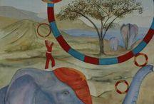 2012-2013 aquarel Anja Strijker / Eigen werken in Aquarel