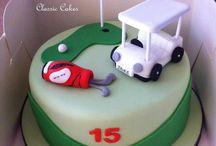 golf cakes