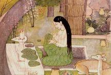 Paintings - Indian Kangra