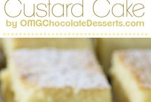 Recipes-custard cake