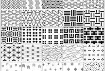 パターン。柄。幾何学模様