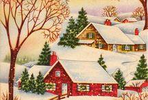 pretty christmas neighborhood