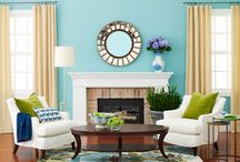 Living Room Inspiration / I'm looking for design ideas for our entrance/living room. The walls are tiffany blue.  / by Merissa Rodman