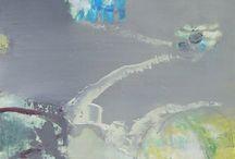Masako Tobita / Masako Tobita painter artist contemporary paintings art abstract expressive mood st ives st just cott valley zennor kenidjack cornwall for sale