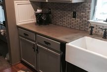Concrete countertop with coffee / DIY