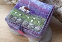 Felted land/ sea scapes