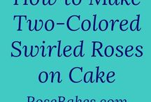 2 colour rose swirl cake