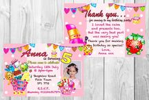 Shopkins Party Invitations ans Thank You cards / Shopkins Party Invitations ans Thank You cards