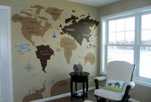 "Nursery ""On the Top of the World"" / Custom Mural painted to homeowner's specifications, and coordinate perfectly with bedding and accessories."