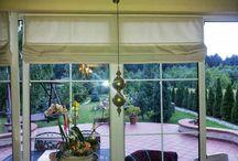 Propozycje dekoracji okien. / Dekoracje okien wyprodukowane i wykonane przez www.eso-rolety.com.pl