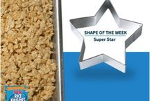 Shape of the Week / Rice Krispies Treats are super easy to make with your kids, no matter which shape they take! So each week, we'll give you a new shape to try together.