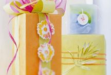 gift wrap ideas / by Eleanor Green