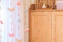 cortina infantil com pingente