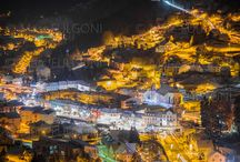 La Bresse by night / Vue de La Bresse de nuit par une froide (-15°) nuit d'hiver depuis le panorama des Roches Beuty.