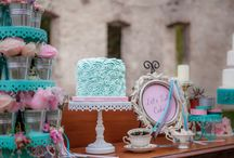 Pink-teal wedding