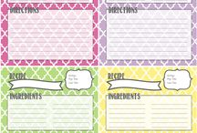 Cooking planner free printables