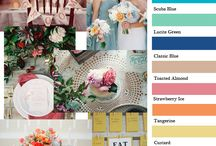 2015 Wedding Color Trends / The most popular wedding color combinations for 2015.