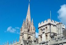 Places to visit  Oxford. Oxfordshire. sunny mornings. City