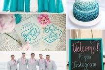 Mint green and coral wedding / by Allie Mathews