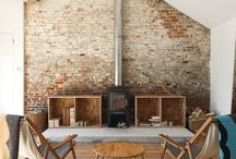 Fireplace wall / Ombré effect random and natural