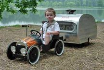 Kids Hot rods & caravan