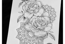 tattoo flower dotwork