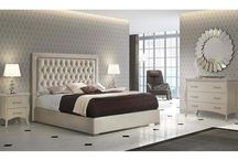 Modern Contemporary Microfiber Ivory Bedroom Collection