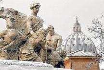 Snow in Rome.