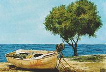 Kreta, Aquarelle
