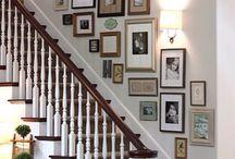 tavelvägg trappa