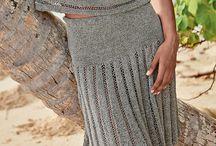 Спицы юбка