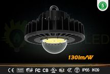 LED highbay / 60W to 200W highbay light 130lm/W efficacy DLC premium