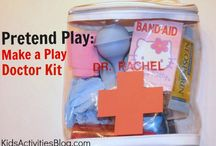 Pretend play / ideas for pretend play with the kids
