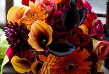 Fall weddings & bouquets / Fall colors used for wedding flowers