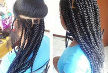 tresses et coiffures afros